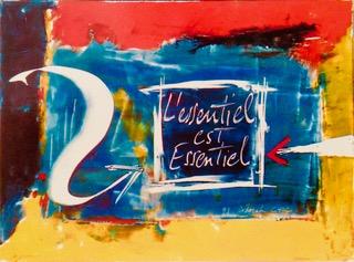 """Une de nos partenaires Déborah Chock Sa peinture : """"L'essentiel c'est essentiel"""""""