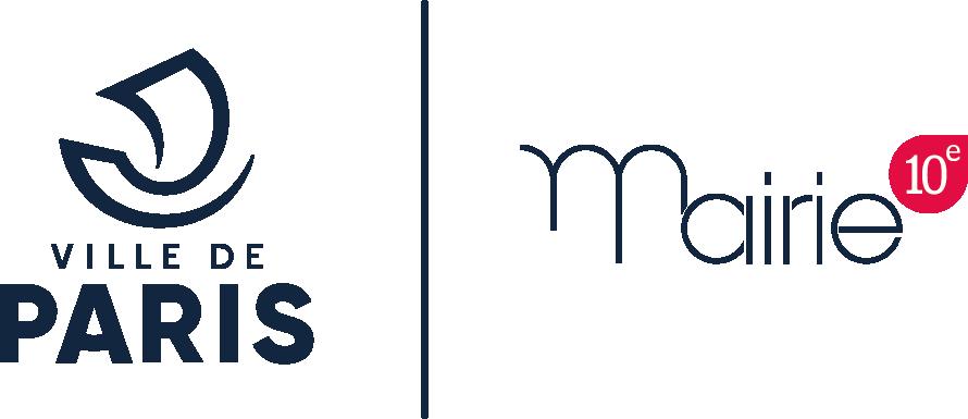 Logo ville de Paris et Mairie 10ème Deux de nos partenaires