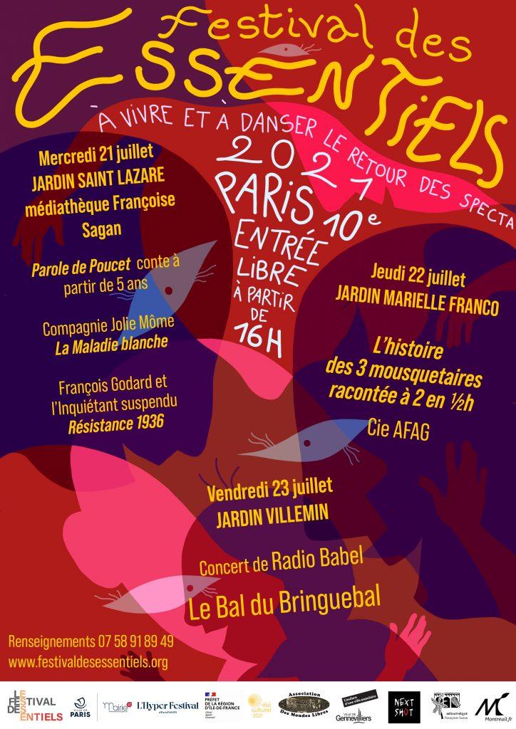 Affiche de Paris du Festival des Essentiels avec la programmation